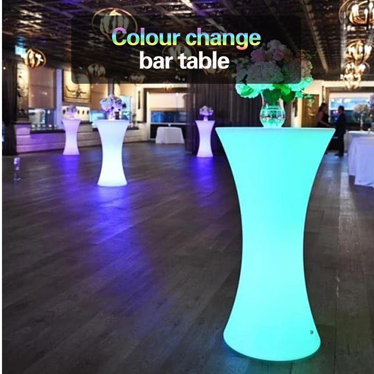Mange debout Lumineux LED Multicolore-RONDE led cocktail bar tafel