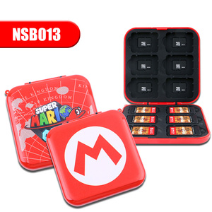 12 in 1 video game mario cards carrying case storage box for nintendo switch