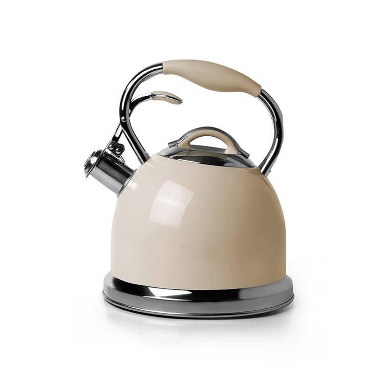 good grip elegant handle stainless steel stove top kettle whistling tea kettles