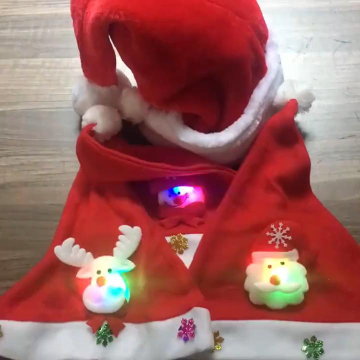 Oemtailor 不織布帽子サンタクロース顔雪だるまキャップクリスマス帽子装飾クリスマス帽子クリスマスとパーティー