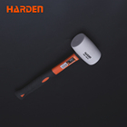 White Rubber Mallet Hammer Double Faced Head Fiberglass Handle Hammer