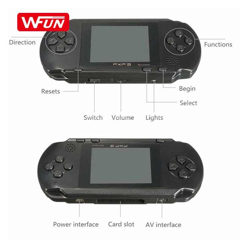 Support TV 156 Classics Games Mini Retro Consola 3.0 inch Handheld Game Player PXP3 Video Game Console