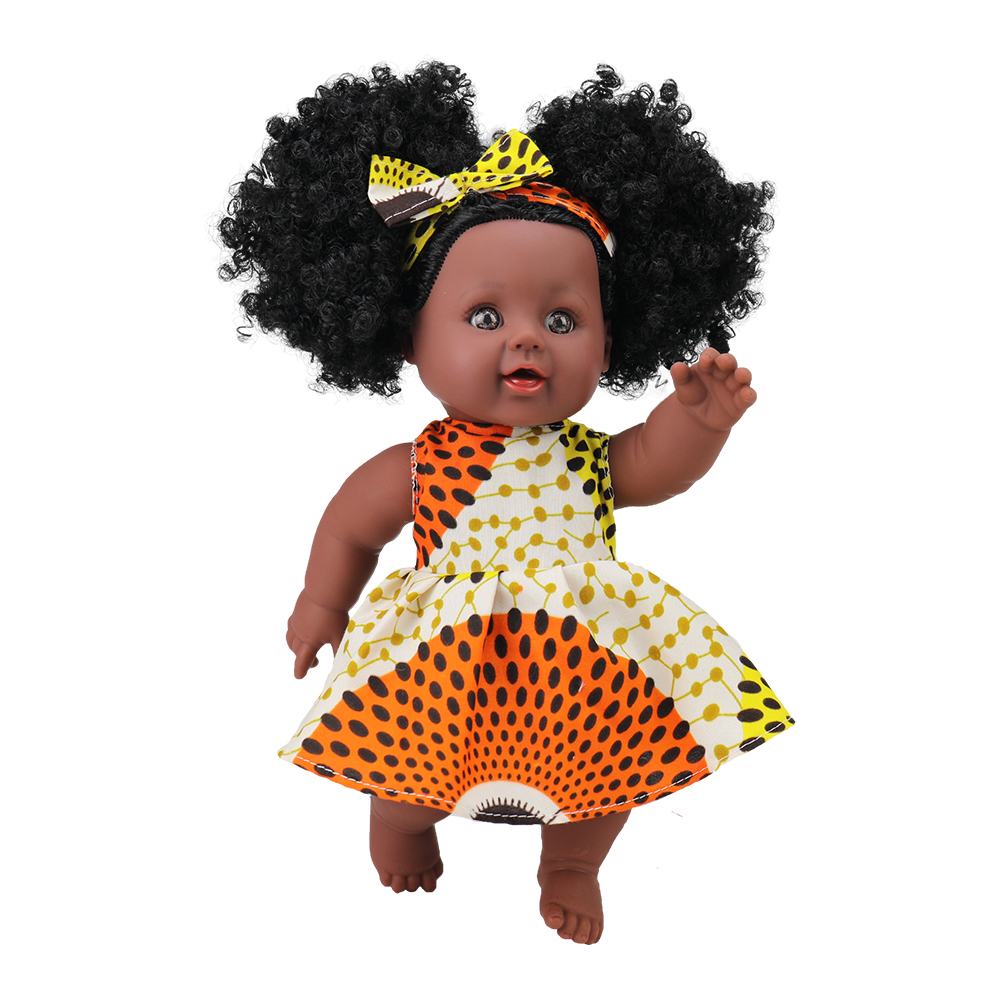 12 inch Toy Baby Black Dolls lifelike african american doll for kids, 2019 newest children, Kids Holiday and Birthday gift