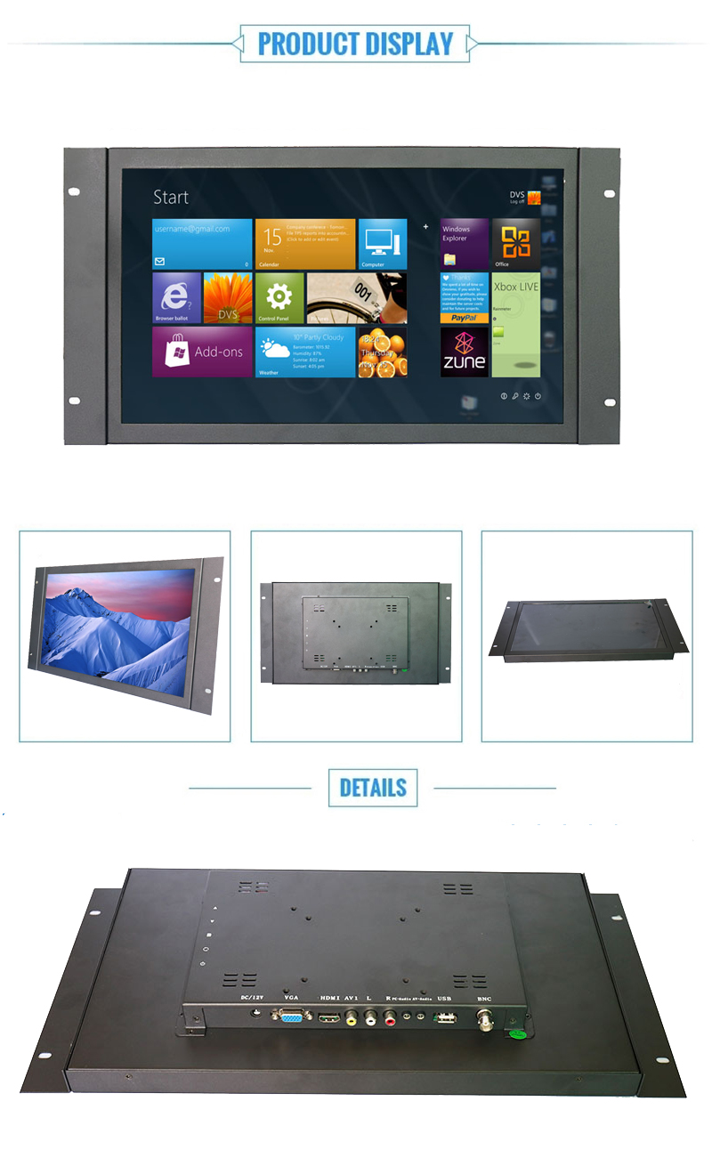 Factory price 10.1 11.6 13.3 14.1 15.6 17.3 21.5 open frame industrial cheap capacitive wide touch screen monitor