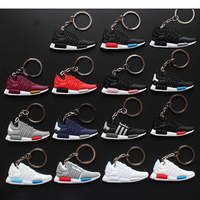 wholesale custom different shape materials shoes key chains high quality nmd keyrings with logo