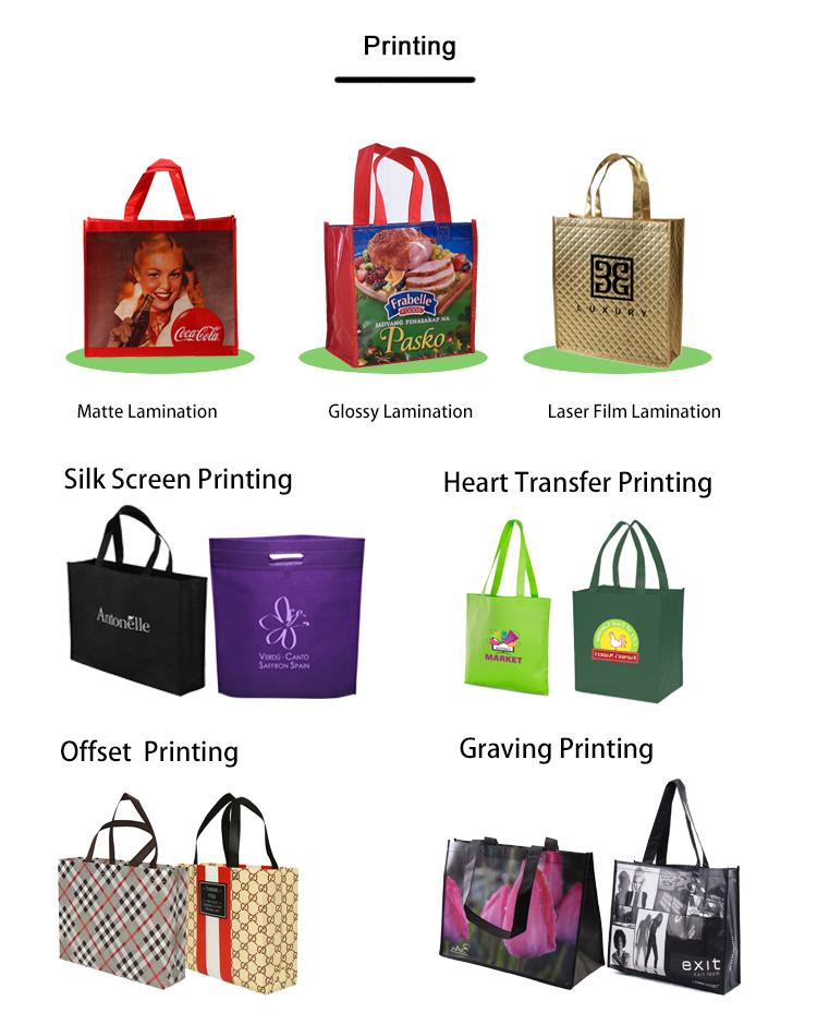 Personalizado d w u corte reutilizáveis sacos não tecidos dos pp para a embalagem de compras