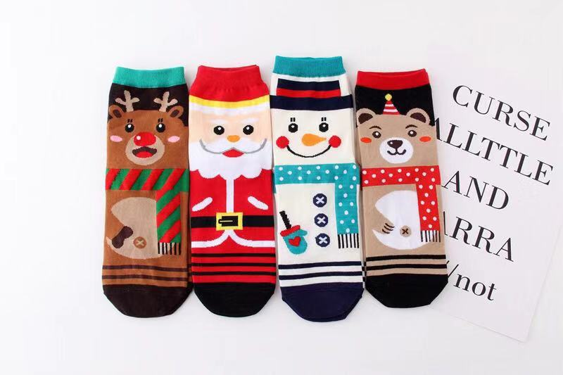 Unisex Christmas xmas winter indoor home slippers crew socks