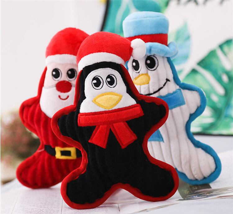 Holiday plush Santa penguin snowman pet grindstone doll BB called pet doll plush pet toy