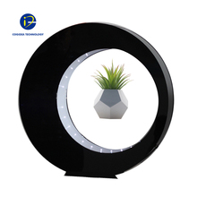 Corporate gifts Magnetic Levitation auto-rotating planter flower pots floating air bonsai pot