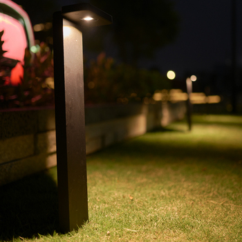 Outdoor Colored Cast Light Bollard