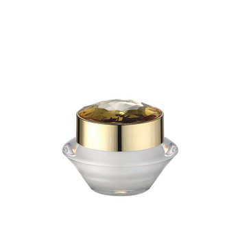 30g 15g white slant shoulder cosmetic acrylic cream jar with aluminum lid