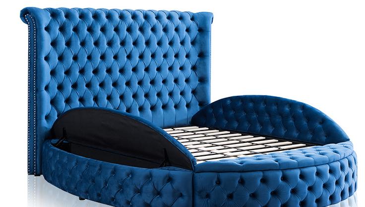 2020 nuevo diseño muebles de la habitación de lujo de madera de almacenamiento cama tamaño King