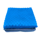 7 lbs 36x48 inches Royal Blue Minky Fabric Weighted Blanket for Children