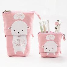 Милый школьный чехол-карандаш с кошкой для девочек и мальчиков, чехол-карандаш, тканевый картридж, сумка для ручки, каваи, держатель для ручк...(Китай)