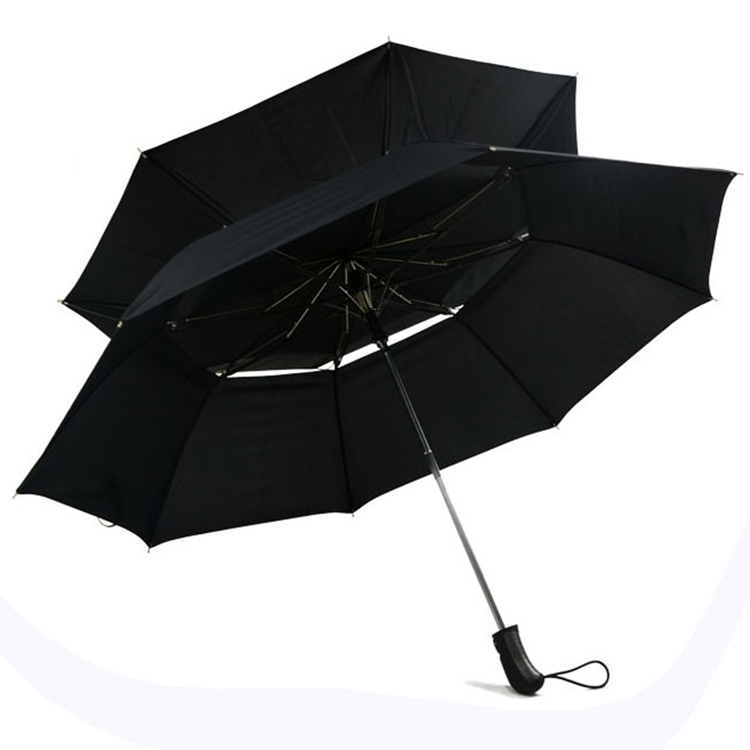 China Supplier Guaranteed Quality Wind Resist Fold Umbrella With Double Canopy