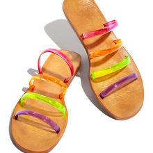DORATASIA/лаконичные летние шлепанцы из ПВХ без застежки на низком каблуке для отдыха; Женская повседневная обувь на плоской подошве(Китай)