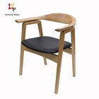 Wholesale PU upholstered C chair restaurant home furniture wooden dining chair for restaurant