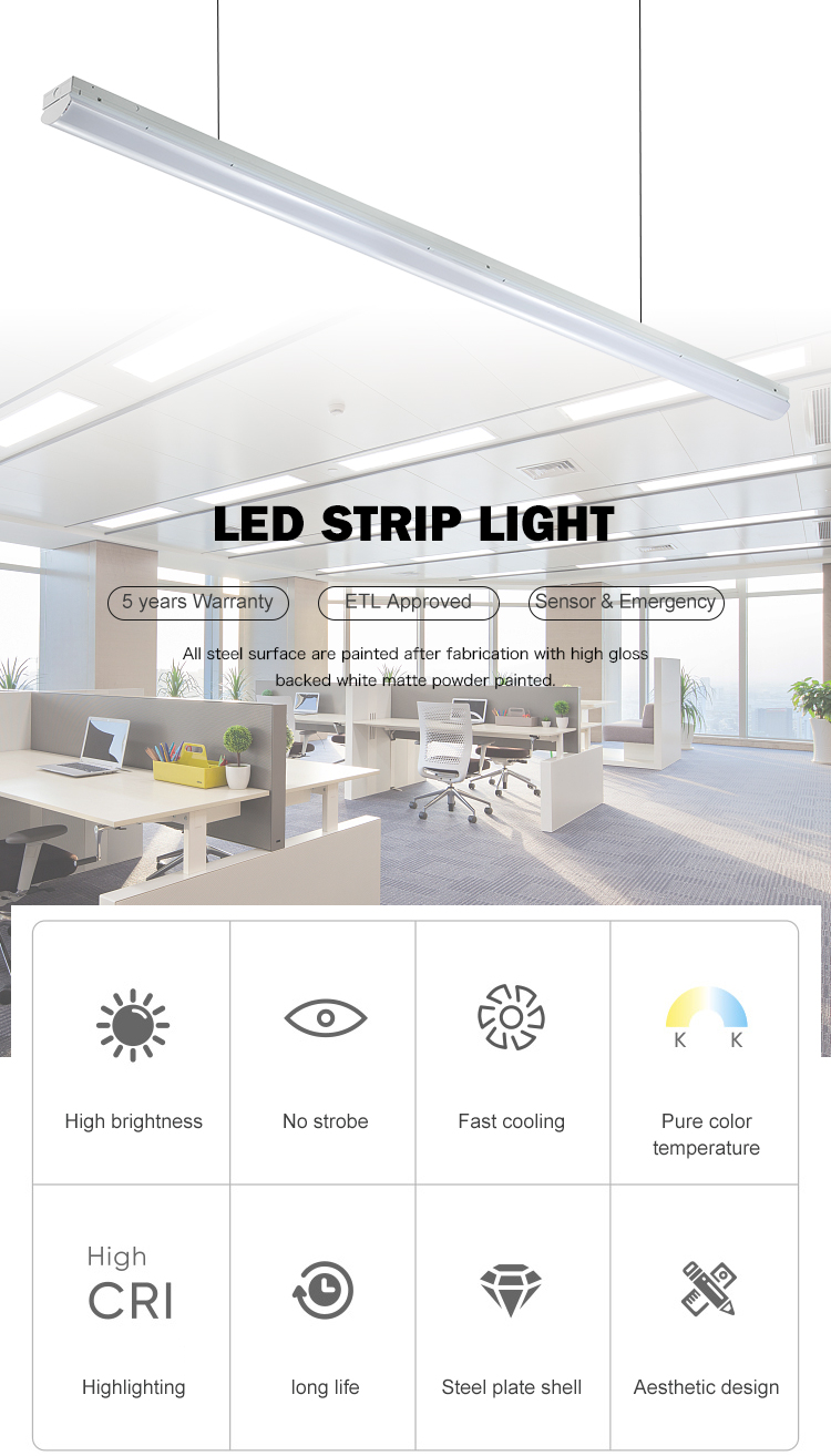 New product library office dimming 18w 24w 36w 63w 85w linear led wall light