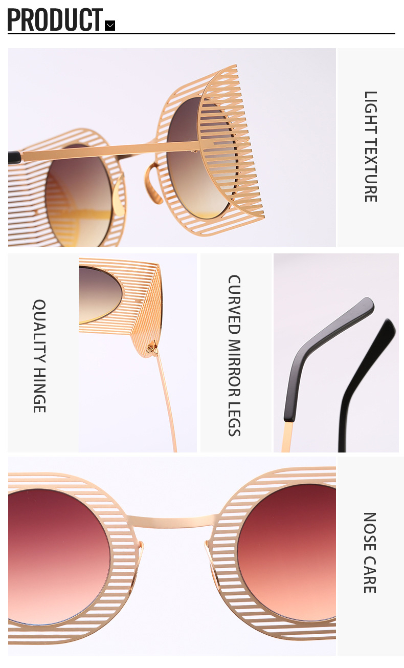 Colorful Irregular Square Metal Hollow Designer Custom Women Eyewear