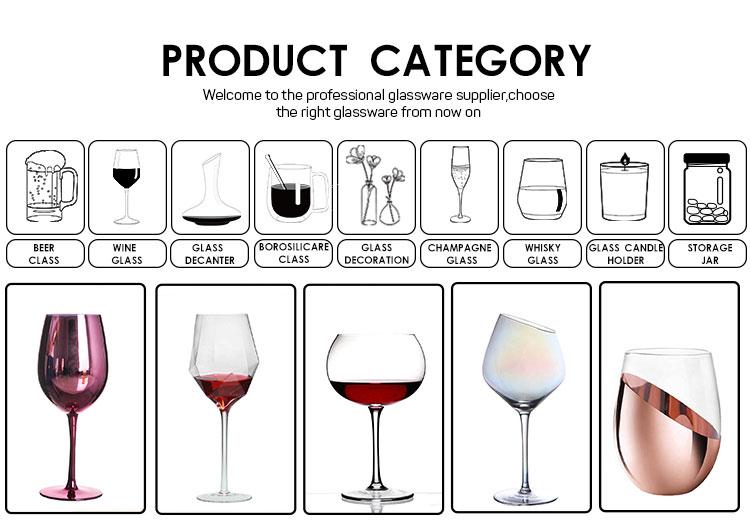 18 Oz Handblown Clear Crystal Drinken Stamde Beker Diamant Wijnglas Rode