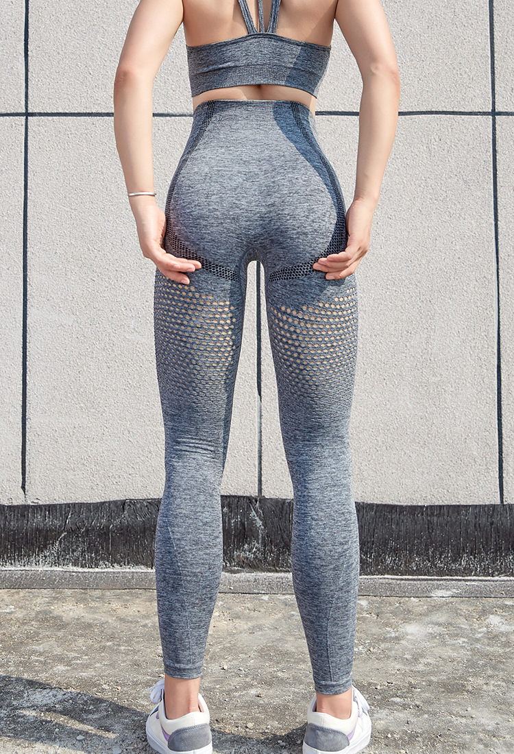 Custom womens breathable quick-drying fitness pants high-waisted stretch tight peach butt lift running yoga pants
