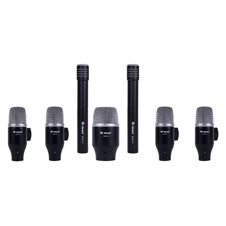 Sinbosen Musical Instrument Equipment Drum Microphone Kit Q-904 Professional Wired Microphone