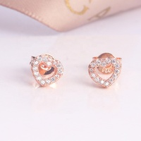 Fashion Exquisite Lovely Hollow Crystal Earrings Women Love Jewelry Drop earrings