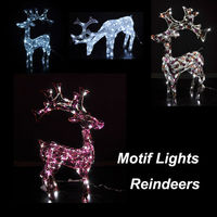 Reindeer decor lighting, LED christmas light lights outdoor