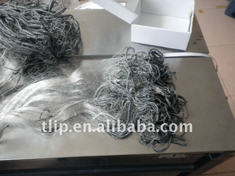 100% knitting Gill Nylon Fishing Net Fully Completed
