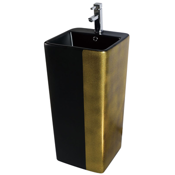 Hotel Popular Standing Rectangular Color One Piece Wash Basin