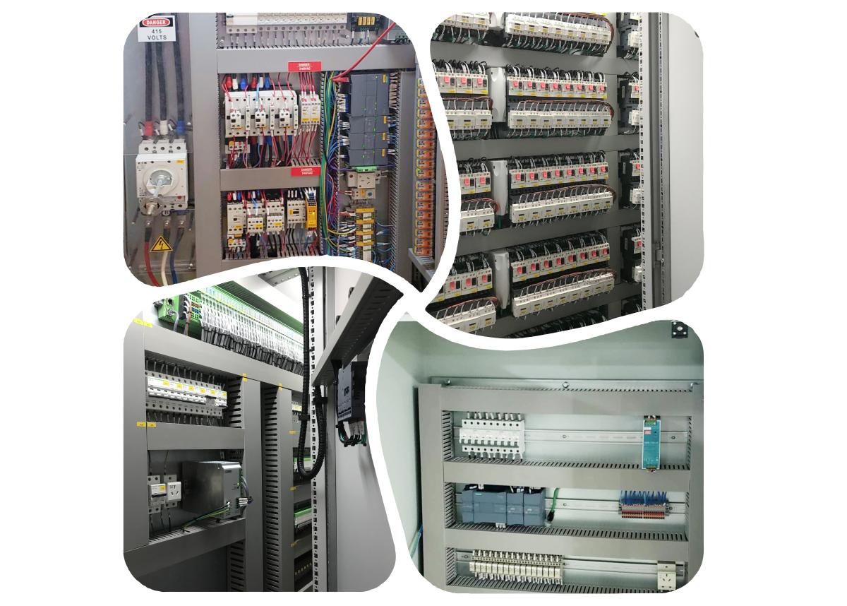 Électrique armoire DE commande pour la protection de l'environnement
