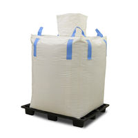 fork truck lifting one ton jumbo bag PP woven bulk bags used for storage