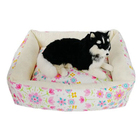 Manufacturer factory wholesale polyester pp cotton printed square living room luxury dog cat pet sofa bed