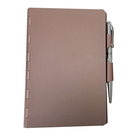 Promotion [ Notepad With Pen ] Notepad Notepad Aluminum Metal Cover Ring Binder Notepad With Pen