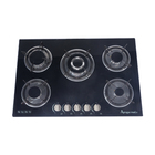 Gas Cooktop 5 Burners Copper / Iron Optional Gas5 Gas Stove Glass Black Tempered Glass Commercial Best Flame Gas Cooktop Cooking Table Gas Stove 5 Burners