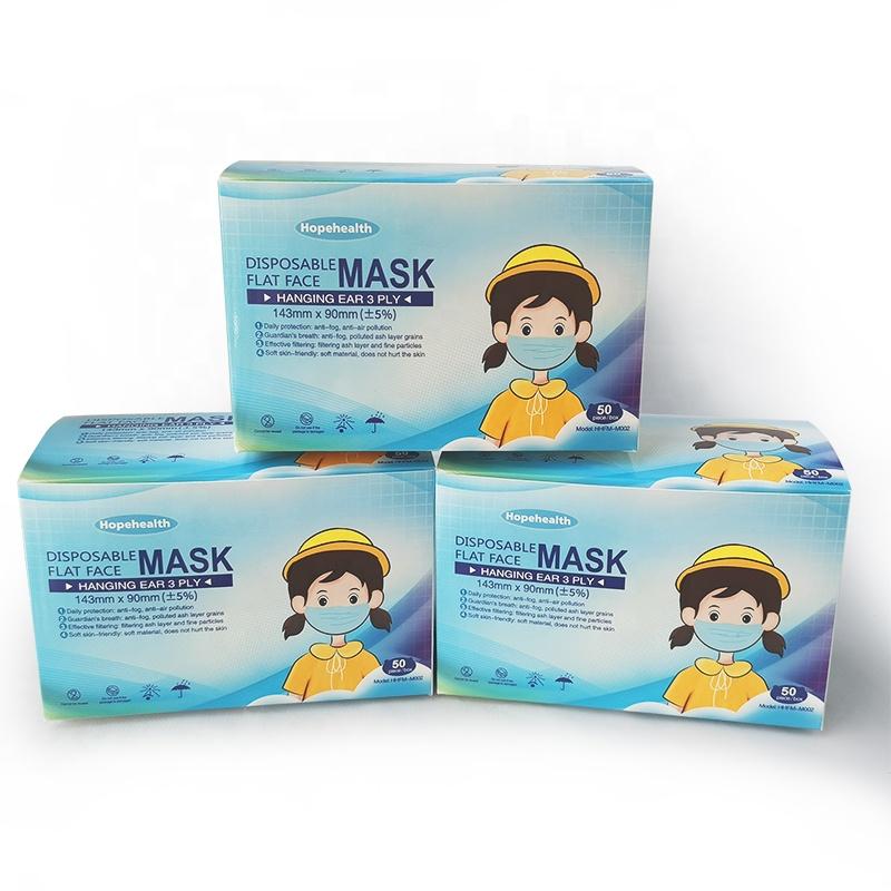 Сертификат CE дышащая Одноразовая Медицинская 3-х слойная медицинская маска для лица для детей