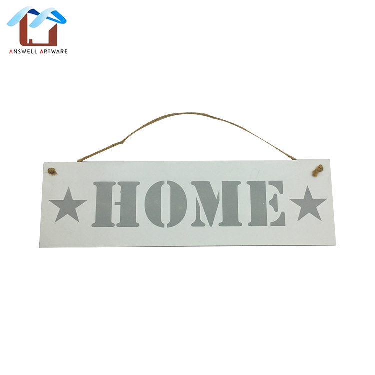 MDF Decorative Wooden Home Store Wall Art Hanging Signs Plaque With Customized Quotes Sayings