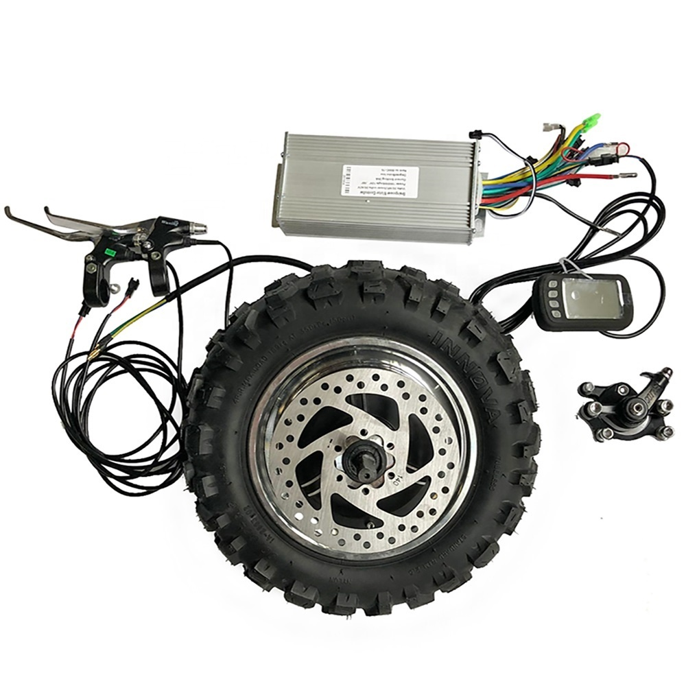 Off road Rough Tyre 11 inch 48V 1000W 1500W Electric Gearless Hub Motor 60km/h