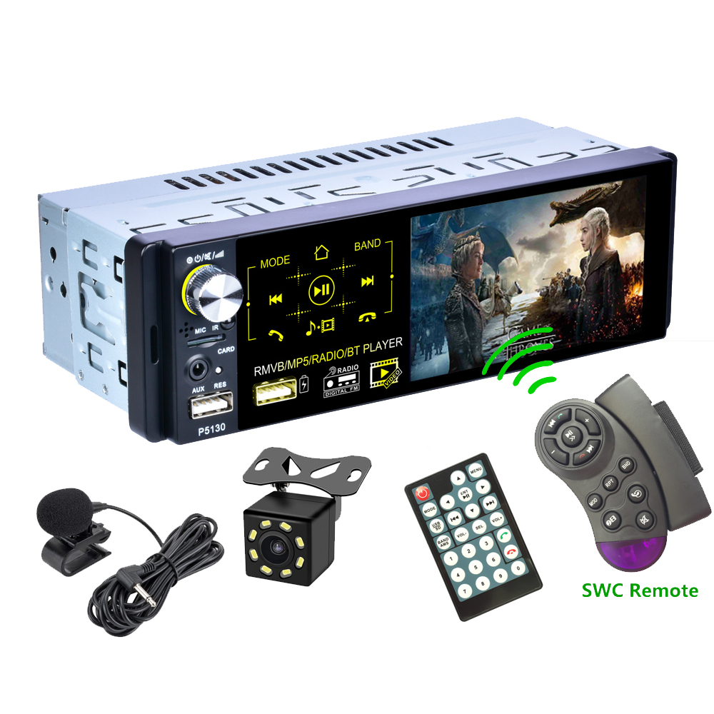 Universal Auto Multimedia 1Din Bluetooth/MP5/AM/FM/RDS Radio Audio Stereo DVD Player, auto 1 Din Touchscreen Rückansicht Autoradio