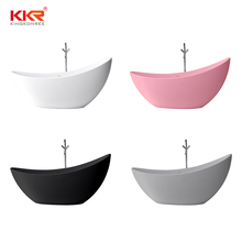KKR Solid Surface Material Bathtubs Freestanding Bath Tub Black for bathroom