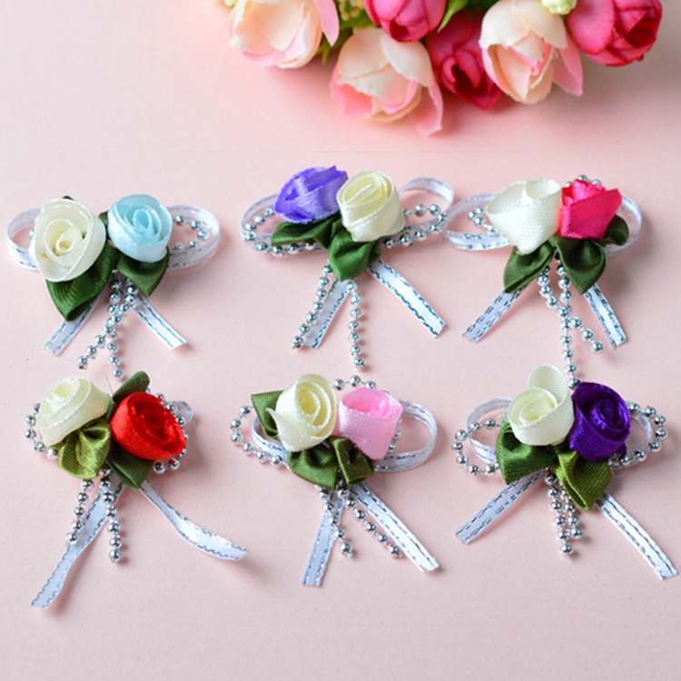 Wholesale ribbon and bow rose decoration wedding ribbon bows
