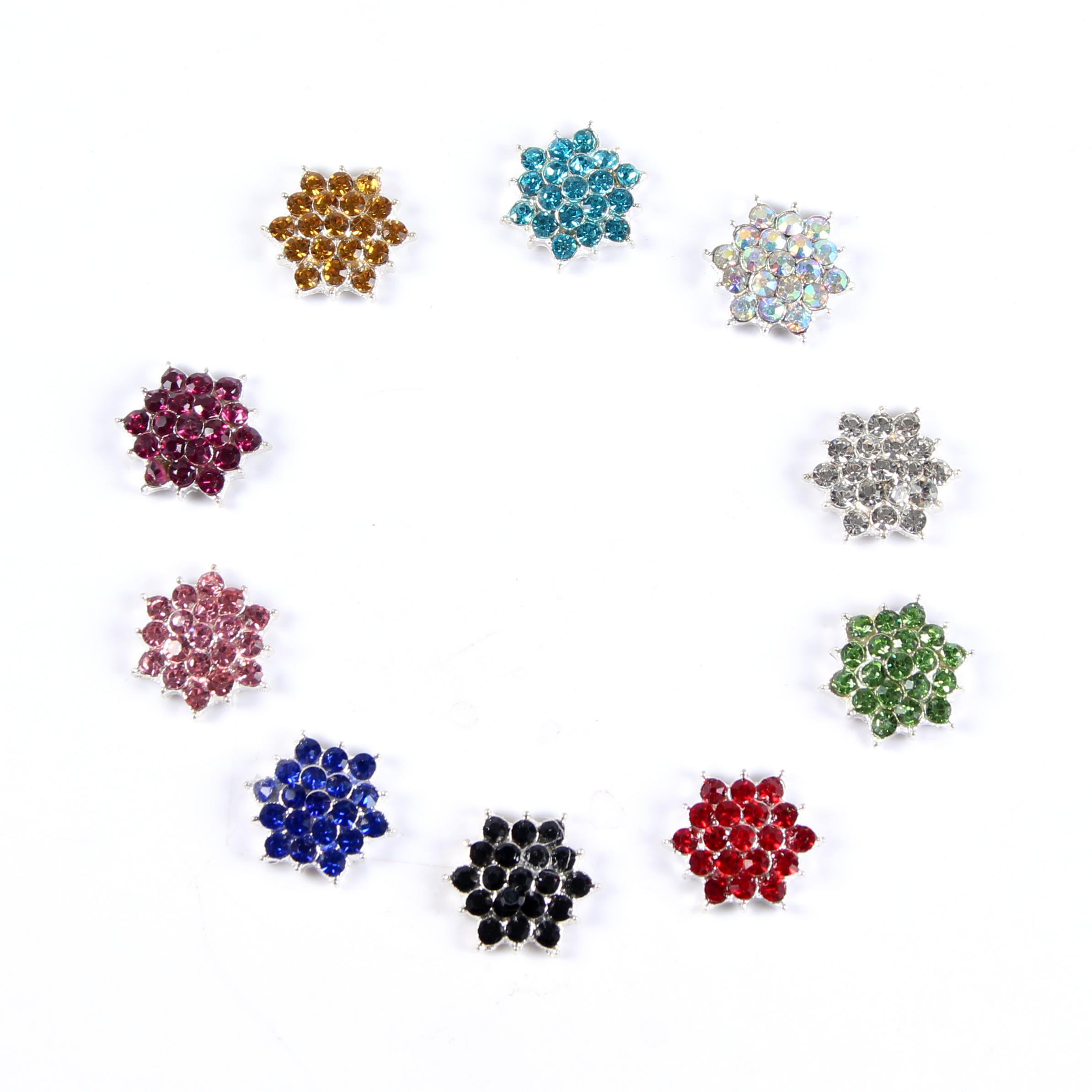 Türük toptan renkli Rhinestone düğme dekoratif süs toka yıldız düğün aeecssories