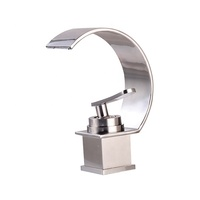 Waterfall Brass Basin Faucet For Bathroom Wide Faucet Cold And Hot Mixer Taps