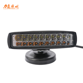 Manufacturer wholesale car double row LED refit 18W project work lights car motorcycle strip spotlights