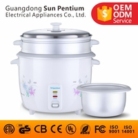 Drum type 1.8L rice cooker with stainless steel lid rice cooker for restaurant using and home kitchen appliance