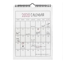 Календарь 2020, висячий календарь, ежемесячная Личная школа планирования, настенные календари для украшения дома и офиса(Китай)