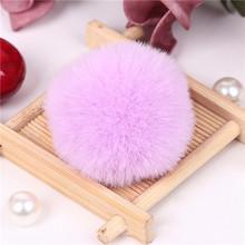 Помпон 8 см Рекс кроличья шерсть плюшевый шарик детский кружевной патч аппликация материал детская сумка для волос DIY пушистый брелок Аксес...(Китай)