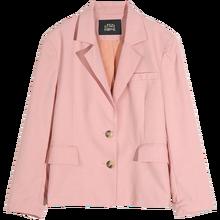 Женский однобортный Блейзер ELFSACK, розовый однотонный Повседневный пиджак с карманами, офисная одежда в Корейском стиле, весна 2020(Китай)