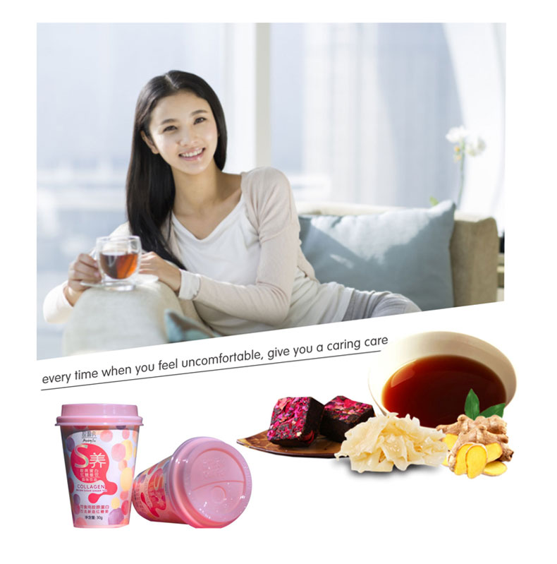 Dried collagen granule tumeric and ginger tea for healthy - 4uTea | 4uTea.com