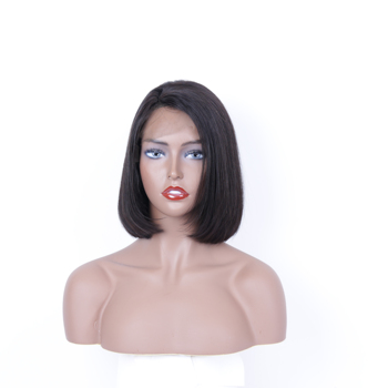 No Shedding No Tangle Short 100% Human Brazilian Hair Lace Virgin Bob Wig
